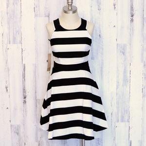 RACHEL Rachel Roy Striped Open Back Dress 2